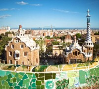 Espanja-barcelona-parc-guell-gaudi-is