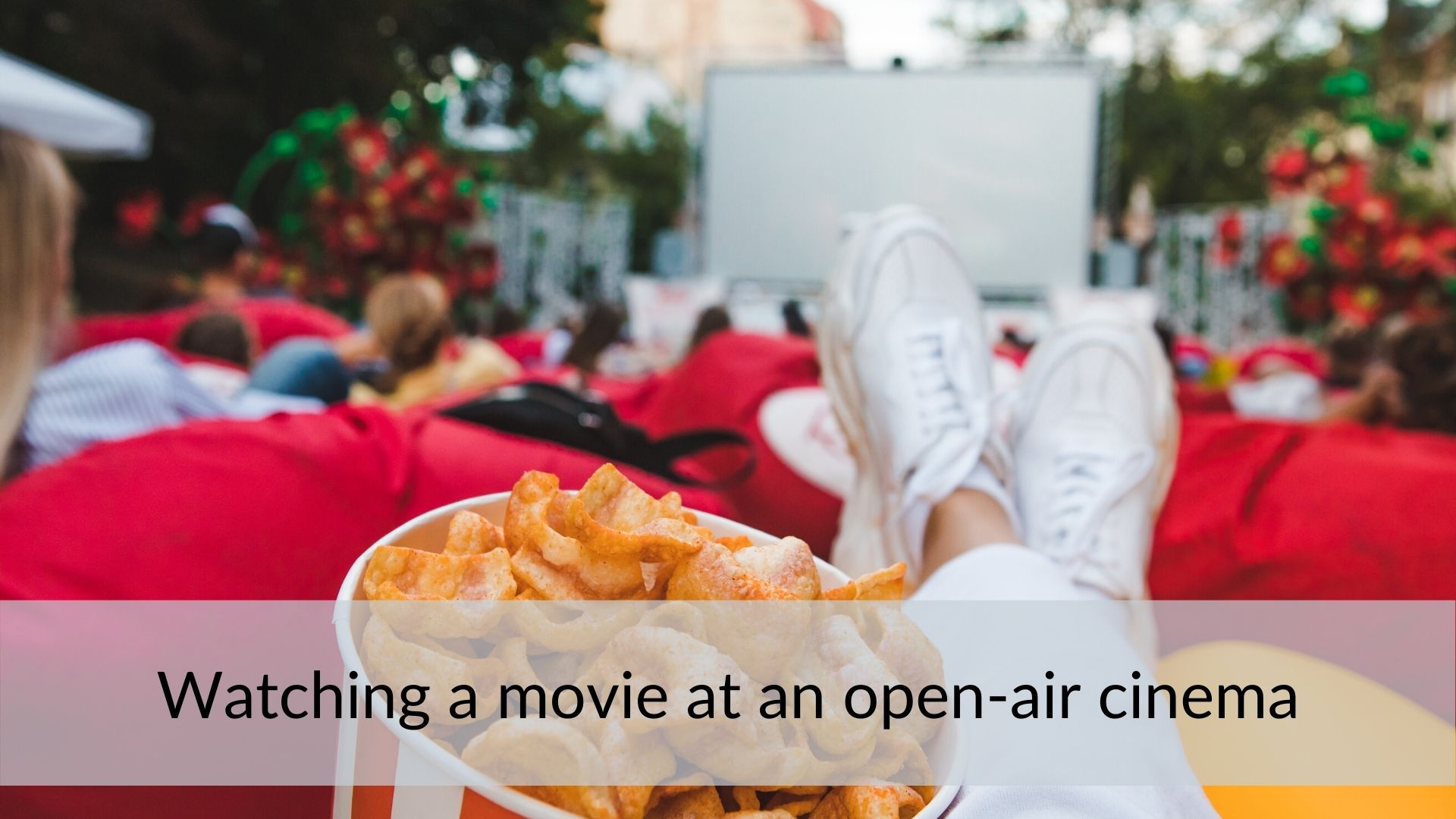 Open-air summer cinema in the UK