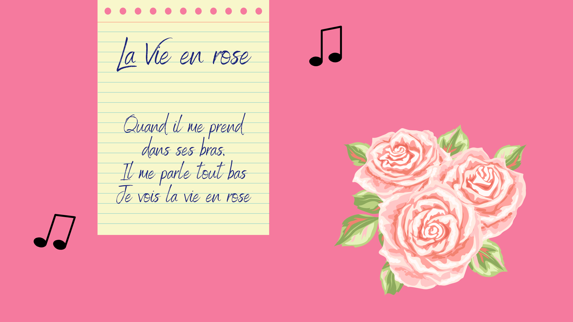 French La Vie en rose by Édith Piaf