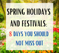 srping holidays and festivals